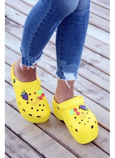 Pembe Potin A246-19 Kadın Sandalet A246-19 Sarı